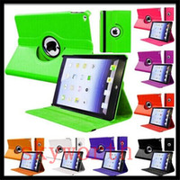 Wholesale Smart Cover Case Ipad3 - 360 Rotating leather case Smart cover For iPad pro 10.5 air3 air 2 3 4 5 6 7 Mini 4 Rotary Stand