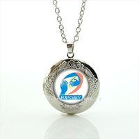 Wholesale Picture Body Jewelry - Fashion silver plated body jewelry locket necklace sport rugby football sport picture gift for boyfriend or girlfriend NF031