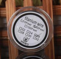 resistencia de la bobina de titanio al por mayor-bobina vape alambre mecha Titanium Wire vaporizador mods de control de temperatura 24 26 28 calibre 30 AWG de 30 pies de titanio Calefacción e cigs Resistencia