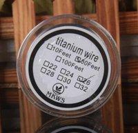 verdampfer titan draht großhandel-Spulendraht vape Docht Titandraht Vaporizer Temperature Control mods 24 26 28 30 Gauge AWG 30 Feet Titanium Heizung ecigs Widerstand