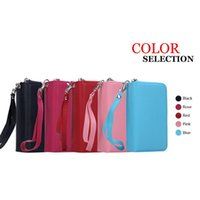 Wholesale gel covers for cell phones online – custom For iPhone Plus Detachable Leather Wallet Case Removable Purse Pouch Flip Card Back Cover Zipper Cell Phone Soft Gel Cases iphone7