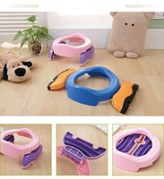 free potty training NZ - Baby Infant Chamber Pots Foldaway Portable Toilet Training Seat Potty RingPotty Training Indoor & Outdoor Travel Set Free Liners