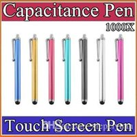 Wholesale styles pen phone resale online - 1000X High quality metal style Stylus Touch pen touch screen pen for iphone c s for ipad for samsung phone DB