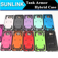 Wholesale Galaxy Tanks - Hybrid Tank Robot Slim Tough Armor Case TPU+PC 2in1 Shockproof Cover for iPhone 6 6s Plus Samsung Galaxy Note 7 S7 Edge G530 J7 2016 LG K10
