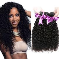 Wholesale Good Wavy Weave - Good Quality Peruvian Human Hair Bundle Weaves 4 Bundles Peruvian Kinky Curly Virgin Hair Weave Wet and Wavy Curly Hair Extensions 100g pc