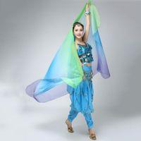 Wholesale Belly Dance Shawl Veil - Wholesale-SXGradient Veil Shawl Face Scarf Women Dance Belly Bollywood Costume Silk-like New
