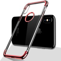 Wholesale Black Stage - Luxury Phone Case for iPhone X 8 7 6 6s Plus Protection Cover Soft Upgrade Version Three-Stage TPU Transparent Cell Phone Cases