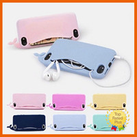 Wholesale Cute Silicone Lg Phone Cases - Cute Cartoon Whale Silicone Phone Case Soft Cover with Open Mouth for Iphone 5 5s se 6 6s plus