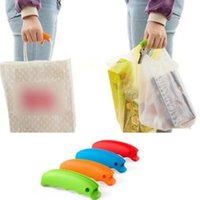 Wholesale Grocery Carrier - Simple Silicone Shopping Bag Basket Carrier Grocery Holder Handle Comfortable Grip Grips Effort-Save Body Mechanics CCA6972 300pcs