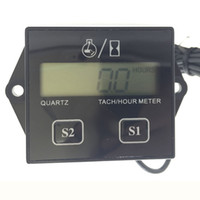 Wholesale Digital Rpm Gauge Meter - Digital Engine Tach Hour Meter Tachometer Gauge Engine RPM LCD Display For Motorcycle Motor Stroke Engine Car Motorcycle Boat