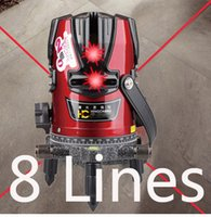 Wholesale Auto Leveling Laser - Wholesale-Free Shipping 8 lines(4V+4H) rotary laser level auto leveling laser level 8 lines outdoor using