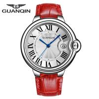 Wholesale Guanqin Watch Ladies - 2015 New Fashion Women Dress Watch Luxury Brand GUANQIN Designer Ladies Wristwatch Spherical Sapphire Mirror Quartz Watch