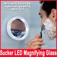 Wholesale Magnified Mirrors - Swivel Brite Magnifying Mirror 8X With 6 Bult in Led Bulbs and With Sucker Rotatable Mirror Bath Portable Mirror