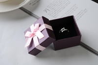 Wholesale Seven Ring Necklace - [Simple Seven] Solid Purple Bracelet Box Festival Necklace Case Pendant Display  Lovely Earring Box  Jewlery Packing Pink Bowknot (small)