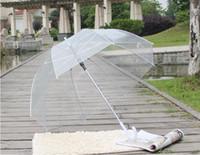 ingrosso funghi-Elegante semplicità Bubble Deep Dome Ombrello Apollo Transparent Umbrella Girl Mushroom Umbrella clear bubble Spedizione gratuita