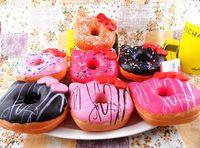 Wholesale Hello Kity Kids - Wholesale 10cm Squishies Kawaii Hello Kity Doughnut Jumbo Donut Slow Rising Pendant Phone Bag Charm Keychain Squishy Bread Kids Toy Gift