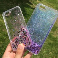 Dynamic Floating Liquid Glitter Sand Quicksand Star Crystal Clear Soft TPU Cornice per paraurti in plastica rigida per iPhone 6 6S plus