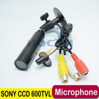 Wholesale Surveillance Cameras Indoor Bullet - Support Microphone Best Price Genuine Sony CCD 600TVL Waterproof Micro Video Surveillance Small Mini Bullet Camera Security CCTV Camera