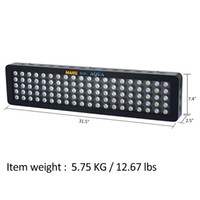Marshydro 300W LED Aquarium Light Dimmable Bulbo de espectro completo Reef Coral Marine SPS / LPS led lamp