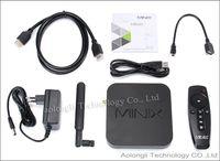 Wholesale Android Tv Air Dual Core - MINIX NEO U1 TV Box 4K UHD V16 Quad Core Amlogic S905 2GB RAM Android 5.1 Dual Band Wi-Fi Google TV Media Player + A2 lite Air Mouse