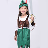 TV & Movie Costumes blue christmas service - Gold Hands New Children s wear children s clothing Cosplay cartoon costume girl performance service children s pirate costumes