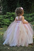 Wholesale Toddler Dance Dresses - Mulit Color Baby Girls Childrens Kids Dancing Lace and Tulle Tutu Dress Flower Girl Dresses Fancy Photography Costume Free Shipping