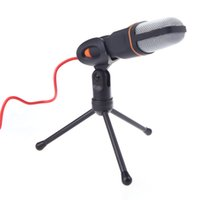 Wholesale Stereo Clip Microphone - Handheld Wired Stereo Condenser Microphone with Holder Clip for Cell Phone Karaoke Conference Computer SF-666 V658