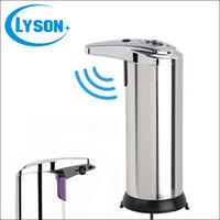 ingrosso dispenser di sapone a mano in metallo-Dispenser di sapone a sensore di lavaggio a mano in acciaio inox