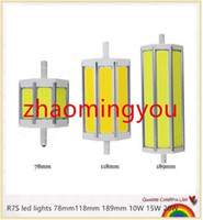 Wholesale 15w Cob R7s - YON 1PCS R7S COB led bulb Dimmable R7S led lights 78mm118mm 189mm 10W 15W 20W lighting lamp AC85-265V replace halogen floodlight