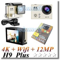 Wholesale lcd camera hdmi online - Original H9 Plus Cheapest K Action Camera Wifi Inch LCD M Waterproof HDMI MP Sport Camera DVR
