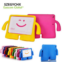 "Wholesale Silicone Ipad Stand - Case For ipad Pro 9.7"" Air 1 Air 2 General Silicone Kids Thick Foam Shock Proof Soft Handle Stand Smart 3D Children Cover For ipad 9.7"" 2017"