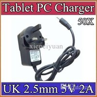 Wholesale tablet a31s resale online - 50X mm V A Charger Converter Power Adapter UK plug V AC Hz for quot quot quot A23 A33 A31S A83T Tablet PC CQ