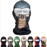 Wholesale Carnival Hats Wholesale - Newest Designs Ghost 3D Thin Outdoor Cycling Bicycle Balaclava Full Face Mask Hat Motorcycle Cs mask Motorcycle Helmets 0089