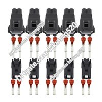 Wholesale Female Electrical Connector - 5 Sets 2 Pin Female And Male Auto Waterproof Electrical Wiring Harness Connector Fuse Box With Terminals DJ70219Y-2.2-11 21