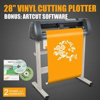 Wholesale vinyl plotter cutter - 28 Inch VINYL SIGN CUTTING PLOTTER CUTTER Cutting Plotter W Artcut Software Contour Cutting New Model 220 110v Free shipping Hot sales