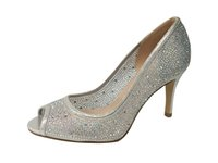 Wholesale Cheap Wholesale Glitter - Rhinestones PeepToe Evening Party shoes shinny glitter material handmade women shoes made in china cheap 8.5cm middle heel women shoes