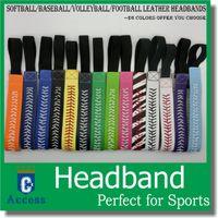 Wholesale Celtic Headbands - SOFTBALL SEAMSTITCH HEADBAND Stretch Sports Softball LEATHER