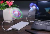 mesaj fanları toptan satış-2017 DIY Esnek USB LED Işık Fan Programlama Herhangi Bir Metin Düzenleme Yaratıcı Reprogramme Karakter Reklam Mesaj Selamlar