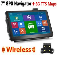 Wholesale Truck Reverse Camera Wireless - 7 inch HD Truck Navi GPS Car Navigation Wireless Rearview Reverse Camera System Sat Nav iGO TTS Maps