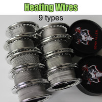 Wholesale vaporizer tiger coils for sale - Group buy Heating Wires For E Cigarettes RDA Vaporizer Premade Coils Clapton Wire Twisted Wire Alien Hive Tiger Twised Wire Types Individual Packing