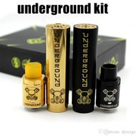Wholesale E Cigarette New - NEW Underground Kit Huge Vapor Underground Mod and Underground RDA High quality E Cigarette 2 Colors fit 18650 Battery DHL Free