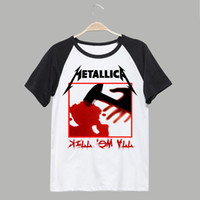 Wholesale Vintage Band Tees - Metallica band tee spring summer t shirt vintage fashion men women size 1 from sale