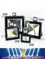 Wholesale Motion Sensor Red Led - PIR Infrared Motion Sensor led floodlight 110-265V Waterproof 10W 20W 30W 50W COB IP65 led Flood Light for led spotlight outdoor Lights LLFA