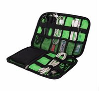 Wholesale Sitting Bags - 2016 New Storage Bag Digital Fashion Organizer System Kit Case Devices Earphone Wire Pen USB Data Cable Travel Insert