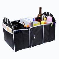 Wholesale trunk car organizer - Extra Large Car Auto Trunk Organizer With 3 Compartments Simple Folding Flat, lightweight, easy to carry and clean