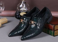 Wholesale Groom Attire Black Men - High quality British business attire casual shoes wedding shoes groom men's best selling black snakeskin leather dress shoes Prom Shoes