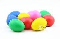 Wholesale Egg Rattle - Hot Sale Multicolour Plastic sand eggs babys children percussion rattles Kindergarten educational children toy Free Shipping