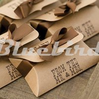 24pcs Mini Kraft Paper Pillow Boxes Bomboniere Bomboniere Regali Scatole di caramelle a tema occidentale PBL002