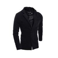 Wholesale Unique Boutique Fashion - Fall-2016 men cultivating solid color unique front buckle dark fashion boutique windbreaker 7546-P85