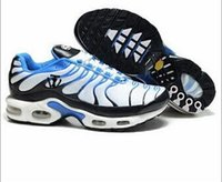 Wholesale New Style Shoes For Mens - 2017 New style hight quality Air Cushion TN running shoes for men black white sneakers mens tennis shoes sports trainers athletic Sport Shoe